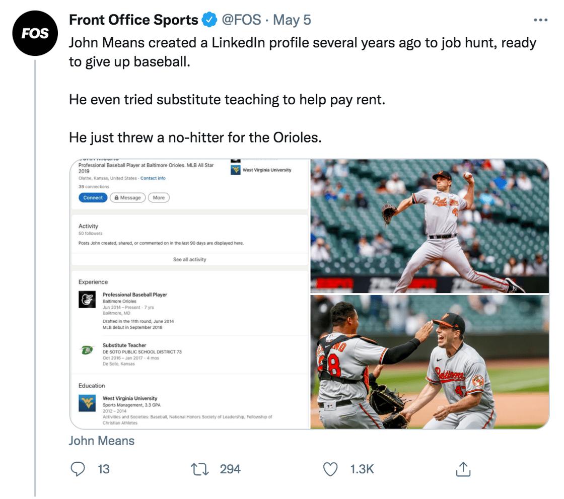 Front Office Sports Tweet